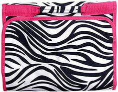 These zebra #cheer cosmetic bags have been flying off the shelf here at #spiritaccessories! Perfect for any #cheerleader It also comes in an additional six colors!