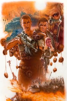 "pixalry:""Mad Max: Fury Road - Created by James Goodridge"" Fantasy Movies, Fantasy Art, Mad Max Tattoo, Plus Tv, Imperator Furiosa, Mad Max Fury Road, Psy Art, Pop Culture Art, Illustrations"