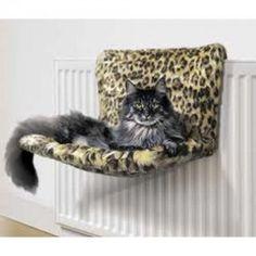 Danish Design Kumfy Kradle Leopard Print Radiator Cat Bed