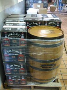 Jack Daniels Single Barrel - you can buy a whole barrel! Over 200 bottles! You pick your barrel in Lynchburg TN, it's bottled with customized plates on every bottle, barrel is signed by master taster, and your name gets engraved on the barrel.