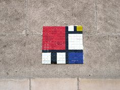 Mondrian arredamento ~ Mondriano inspired by piet mondrian outlined by a black steel