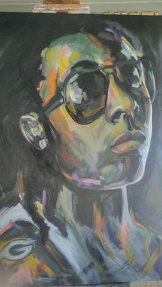 My Painting...Lil Wayne (Greenbay Fan)  30 x 40 Oil On Canvas