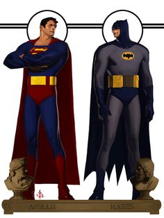 Superman & Batman by Bryan Lee Comic Books Art, Comic Art, Book Art, Batman Et Superman, Supergirl Superman, Marvel Dc, Marvel Comics, Illustration Batman, Bryan Lee
