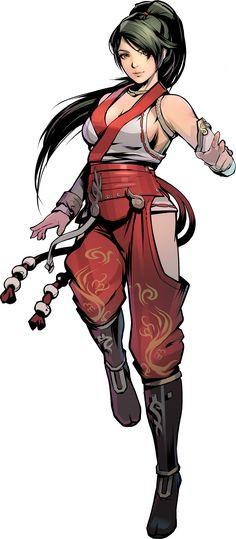 Momiji Art from Yaiba: Ninja Gaiden Z Ninja Kunst, Arte Ninja, Ninja Art, Female Character Design, Character Design Inspiration, Character Art, Comic Anime, Comic Art, Fantasy Characters