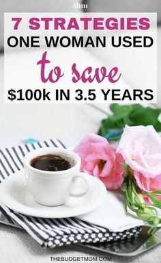 If you want to save a ton of money, you need to have a plan. Here are the strategies one woman used to save $100k in 3.5 years. Save Money | Tips | Plan | Ideas via @The Budget Mom | Budget Tips, Save Money, Get out of Debt and More!
