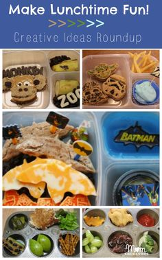 Make lunchtime fun with some creative themed lunches!