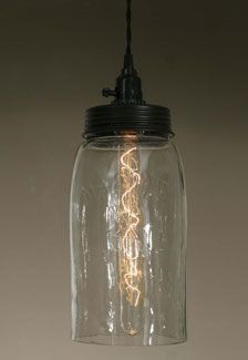 Big Mason Jar Pendant Lamp – Clear Glass – CTW Home Collection Online Store