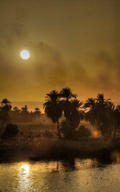 IN SEARCH OF THE SOURCE OF THE NILE: Winter sun on the Nile..... an amazing story by the explorers Burton and Speke to find the source of this great river.