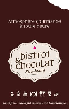 logo BISTROT & CHOCOLAT Strasbourg - France carolegalopindesigngraphique.com