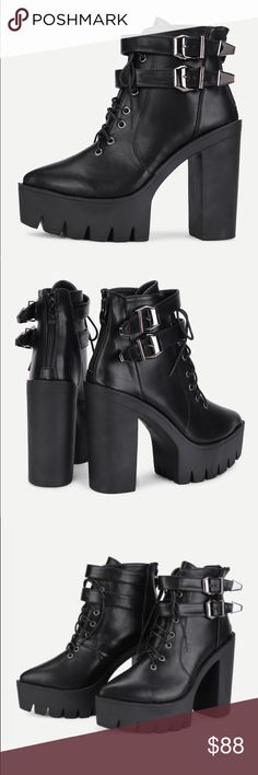 New chunky Pointy platform Booties New in box chunky pointy platform Booties. Size EUR 38. Topshop Shoes Ankle Boots & Booties
