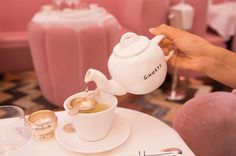 Afternoon Tea & Ted Baker - Gal Meets Glam- Pouring tea at Sketch in London. London is the best place to have afternoon tea.