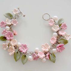 Cherry Blossom Bracelet  I love cherry blossoms!