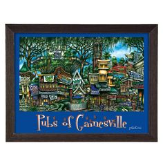 'Gainesville, FL' by Brian McKelvey Frame Poster Painting Print
