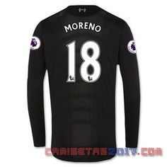 Camiseta manga larga Moreno Liverpool 2016 2017 segunda