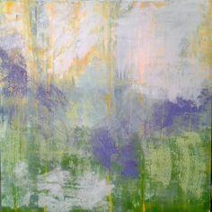 liz doyle dappled at the Glebe oil &cwm on canvas 120cm sq