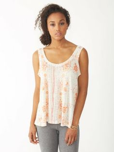 New at V2V Arbor Hills for Spring 2014: Alternative: Mosaic Two Tone Linen Tank Top.