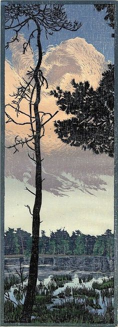 Siemen Dijkstra I Woodcut Japanese Woodcut, Japanese Art, Linocut Prints, Art Prints, Block Prints, Art Chinois, Etching Prints, The Draw, Dutch Artists