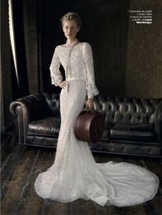 Vogue Sposa Jan issue 2015 editorial for a romantic wedding inspiration