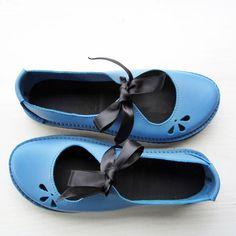 UK 4 Handmade Womens Leather Fairytale Shoes LUNA by Fairysteps