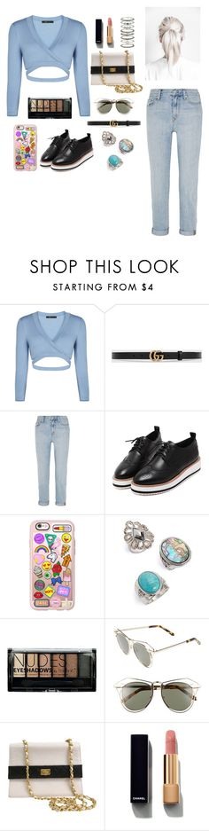 """""""How Deep Is Your Love!"""" by littlemissprincesslove ❤ liked on Polyvore featuring BCBGMAXAZRIA, Gucci, Madewell, WithChic, Casetify, Topshop, Boohoo, Karen Walker, Chanel and Accessorize"""