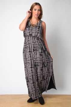 Nude and black printed blouson maxi dress with side split detail plus size 16,18,20,22,24,26,28,30,3