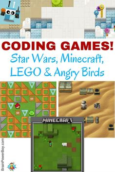 What fun! Coding games that kids are going to absolutely want to play. These Star Wars, Minecraft, Angry Birds and LEGO coding games are a great way to get your kids or students excited about learning to code.