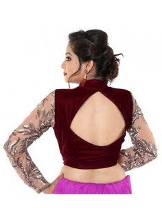 Diamond Cut Blouse Design for Saree and Lehenga