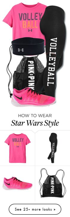 """Gym : Day 1 : Star Wars"" by curlyhead03 on Polyvore featuring mode, Under Armour et NIKE"