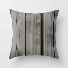 Stripes 02 Throw Pillow by Georgiana Paraschiv