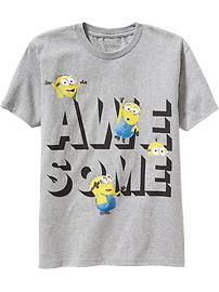 Shop the latest boys's clothes by size at Old Navy for cool and comfort. Create easy outfits for boys' everyday styles, special occasions, sports events & more. Kids Clothes Boys, Kids Boys, Kids Clothing, Minions, Minion Shirts, Maternity Wear, Simple Outfits, Everyday Fashion, Boy Outfits