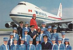 Photo: Boeing 747 Jumbo Jet of Wardair (1970s). Vintage Postcard from the private collection