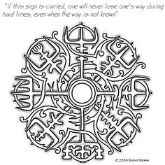 I had the idea of getting a matching tattoo with my brother or for my brother. I think this one would be nice- a part of our heritage and a sign of guidance.