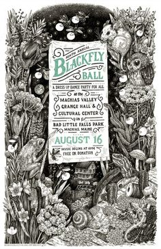 2014 Blackfly Ball Letterpress Poster - Small - Beehive Design Collective Store