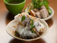 Handmade Rice Noodles Filled With Pork and Wood Ear Mushrooms: Banh Cuon Nong : Recipes : Cooking Channel