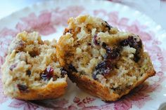 Apple-Oat Muffins with Pecans & Cranberries