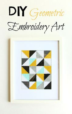 DIY Geometric Embroidery Art