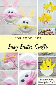 Want to get crafting with your toddler but not sure where to start? Check out these seven super SIMPLE, easy Easter crafts - tried and tested by busy Mama's like you