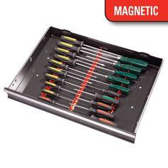 6010M 20 Tool Screwdriver Rail Set W/Magnetic Tape