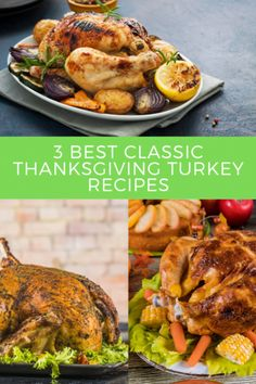 Looking for some  Roast turkey recipe, Thanksgiving Recipes, Thanksgiving turkey recipes ? I've got a collection here of the best 3 Best Classic Thanksgiving Turkey Recipes - #RoastTurkeyRecipe, #ThanksgivingRecipes, #ThanksgivingTurkeyRecipes  @foodeliciousness Classic Turkey Recipe, Classic Thanksgiving Turkey Recipe, Thanksgiving Main Dishes, Thanksgiving Recipes, Perfect Roast Turkey, Roast Turkey Recipes, Side Dishes For Chicken, Vegetarian Recipes, Healthy Recipes