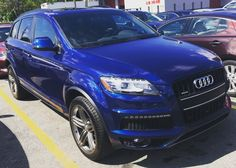 Audi Q7 #audi #audiq7 #q7 #cars #auto #autos #autoshow #tuesday #blue #suv #picoftheday #pictureoftheday #photooftheday #prestigeautotech