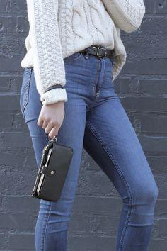 DM Merchandising's Urban Energy: SMARTPHONE WRISTLET - snap front pocket, zippered pouch, and removable wrist strap Zipper Pouch, Mom Jeans, Smartphone, Urban, Pocket, Pants, Fashion, Trouser Pants, Moda