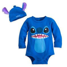 Stitch Disney Cuddly Bodysuit Set for Baby - Personalizable