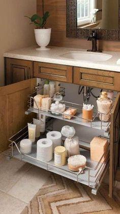 Small Bathroom Storage, Bathroom Organization, Organization Ideas, Organizing Drawers, Bathroom Styling, Kitchen Storage, Cuisines Design, Bathroom Inspiration, Home Remodeling