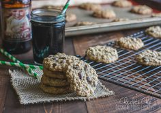 Chocolate chip oatmeal stout cookies