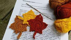 Herfst bladeren haken! Kijk op www.facebook.com/mijnschoonzusenik voor het gratis patroon (Nederlands)