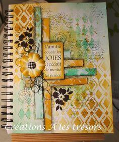 Créations A les trésors: Journal d'artiste collage et encres