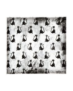 MARC JACOBS Taboo Cat Silk Scarf