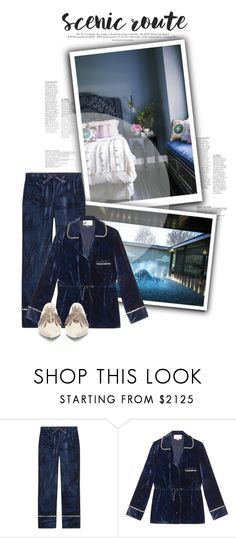 """loungin."" by mercimasada ❤ liked on Polyvore featuring Gucci, Sanayi 313, velvet, gucci, pajamas, slumberparty, loungewear, LazyDay, Night and evening"