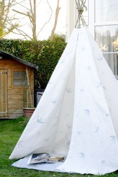 Laura Ashley Blog | A GATHERED CHEERu0027S MAKE and DO DIY TEEPEE | / & Teepee Pattern Sewing Pattern Easy to Sew Play Tent Pattern ...