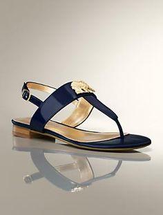 Talbots - Lea Elephant Charm Patent Leather Thong Sandal | New Arrivals | Medium